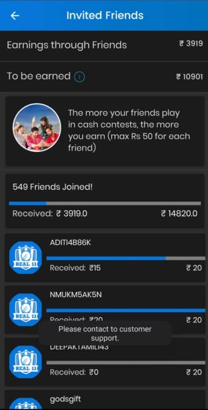 Real 11 referral code