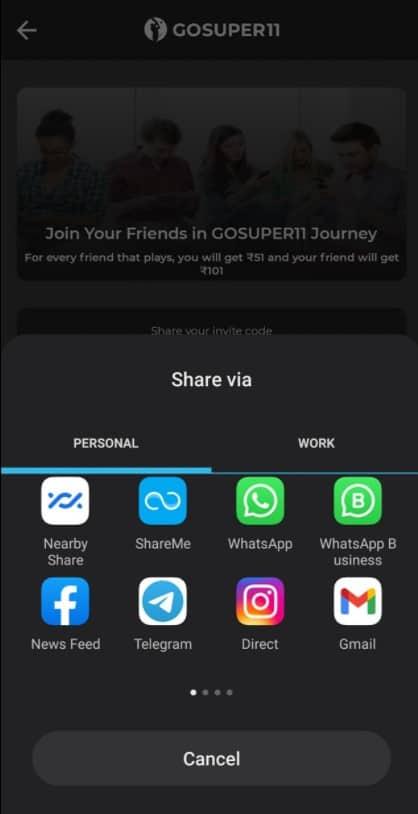 gosuper11 refer code
