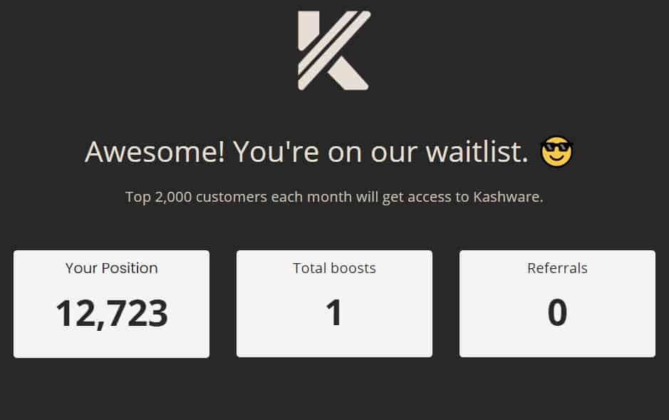 Kashware invite link