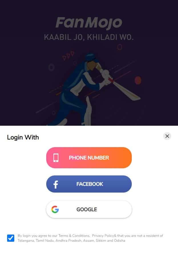Fanmojo app login