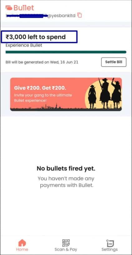bullet app upi