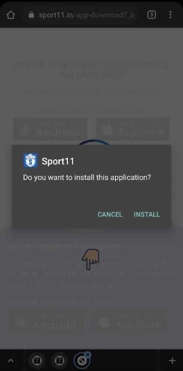 Sport 11 app install