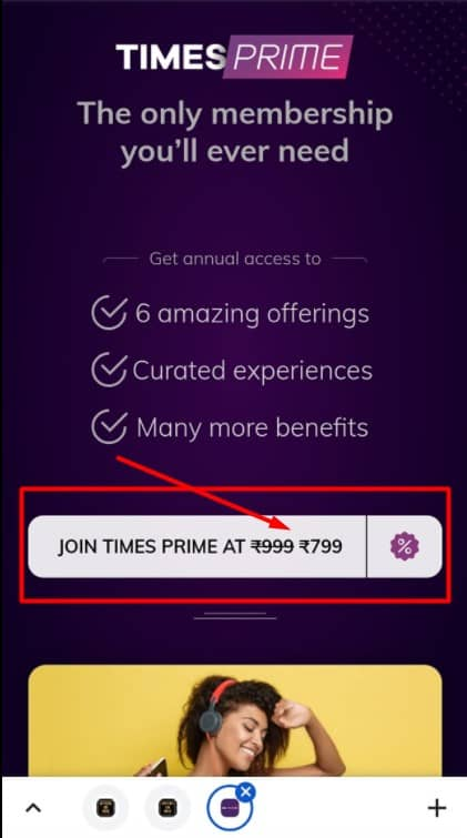 Times prime signup